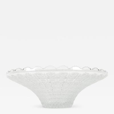 Mid 20th Century Exquisite Cut Crystal Center Piece Bowl
