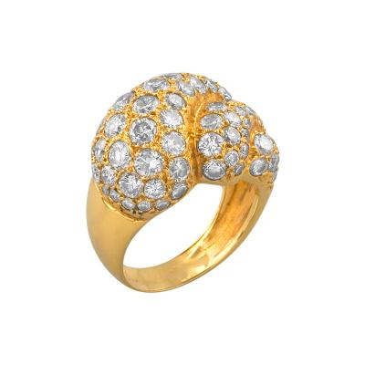 Mid 20th Century Gold and Diamond Ring