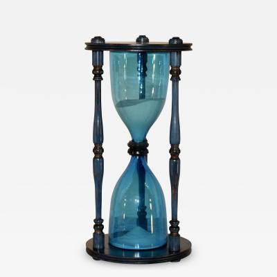 Mid 20th Century Hand Blown Hourglass
