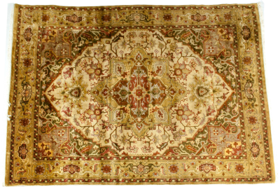 Mid 20th Century Hand Knotted Silk Area Rug