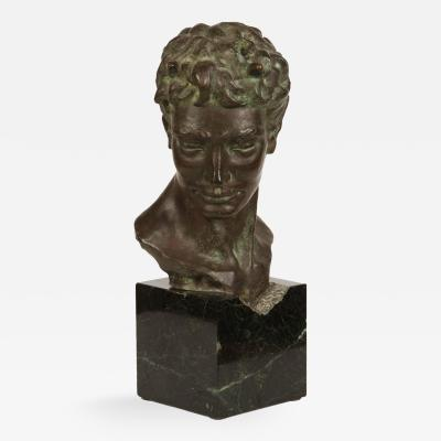 Mid 20th Century Italian Bronze Bust of Pan