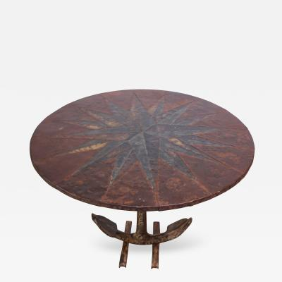 Mid 20th Century Mixed Metal Nautical Anchor Dining Table