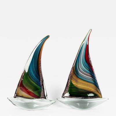 Mid 20th Century Murano Glass Decorative Boat Pieces