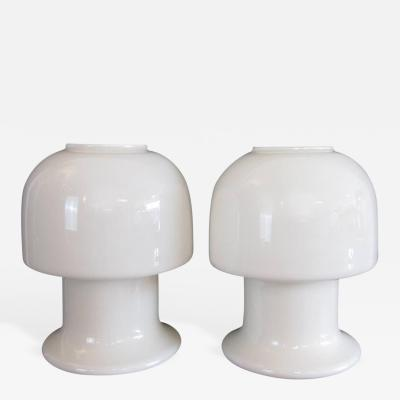 Mid 20th Century Sculptural All Glass Murano Lamps
