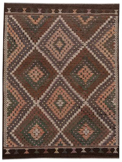 Mid 20th Century Vintage Soumak Wool Rug 7 x 10