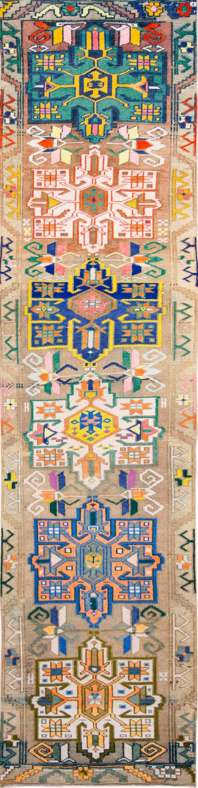 Mid 20th Century Vintage Turkish Wool Runner Rug 3 x 13