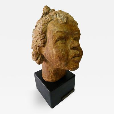 Mid Century Adorable Sculpture of a Little Girl Head