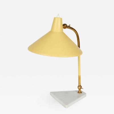 Mid Century Articulating Desk Lamp with Marble Base Italy 1950s
