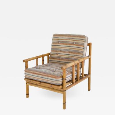 Mid Century Bamboo Club Chair