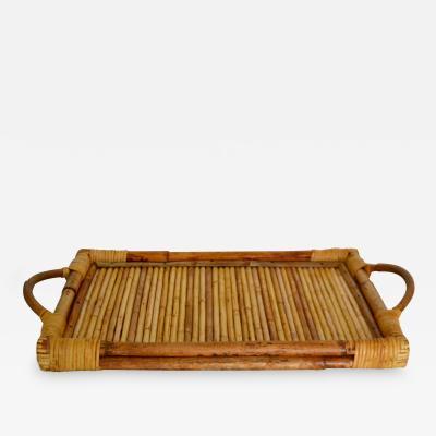 Mid Century Bamboo Tray