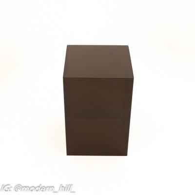 Mid Century Black Acrylic Cube Side End Table