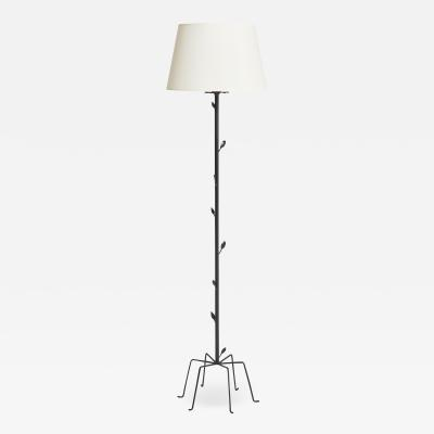 Mid Century Black Floor Lamp