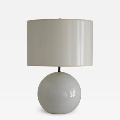 Mid Century Blanc de Chine Ceramic Ball Form Table Lamp