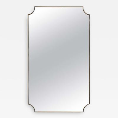 Mid Century Brass Shield Mirror