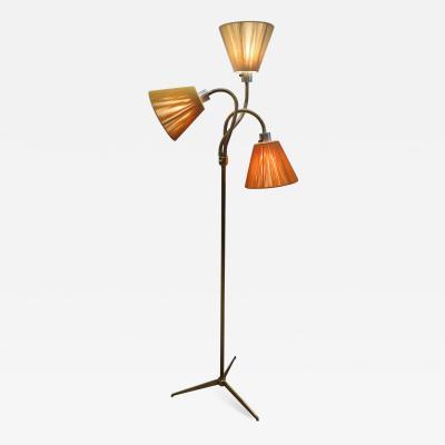 Mid Century Brass Triennale Floor Lamp