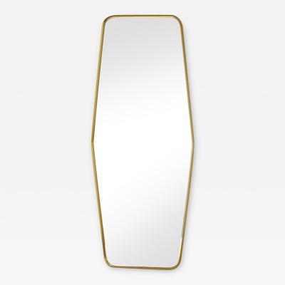 Mid Century Brass Wall Mirror
