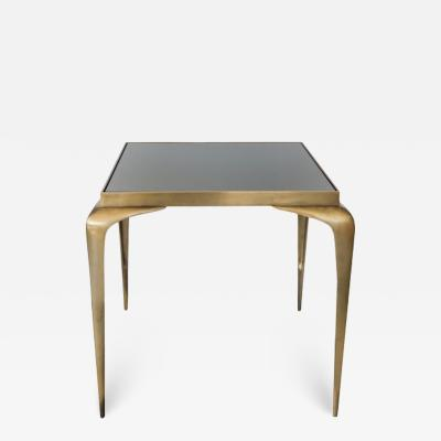 Mid Century Bronze Stiletto Leg Italian Table