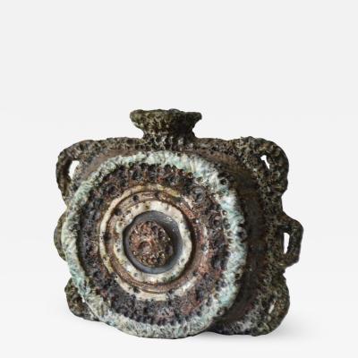 Mid Century Brutalist Inspired Sculptural Ceramic Vase