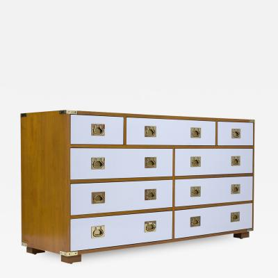 Mid Century Campaign Chest of Drawers