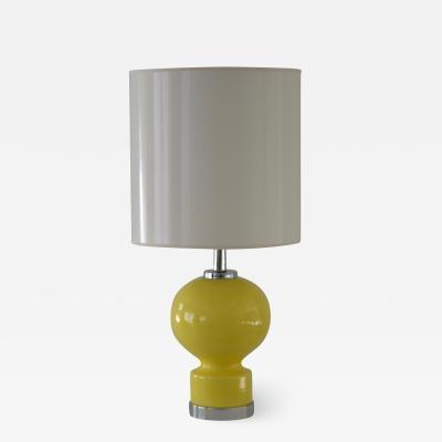Mid Century Ceramic and Chrome Table Lamp