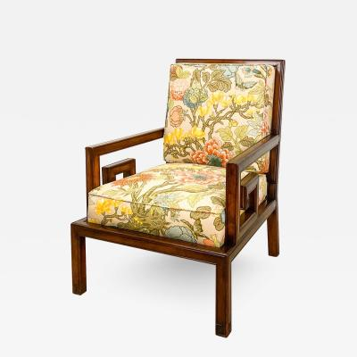Mid Century Chinese Style Armchair America
