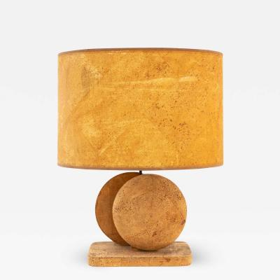 Mid Century Cork Table Lamp
