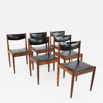 Mid Century Danish Furniture Makers Control Walnut Dining Chairs Set of 6