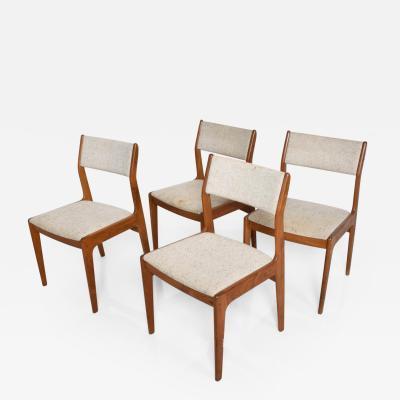 Mid Century Danish Modern Benny Linden Teak Dining Chairs Set of 4
