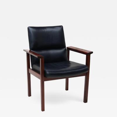 Mid Century Danish Modern Rosewood Desk Office Side Armchair