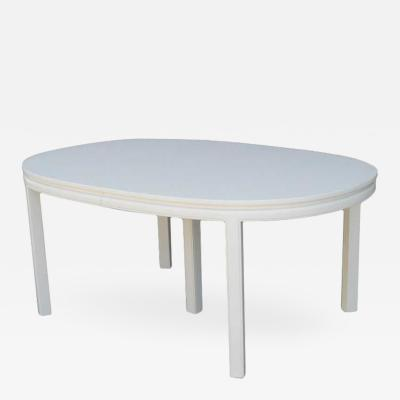 Mid Century Elegant White Lacquer Dining Table