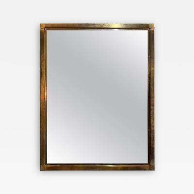 Mid Century French Brass Mirror
