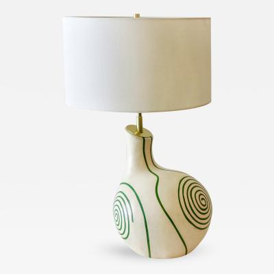 Mid Century French Ceramic Table Lamp