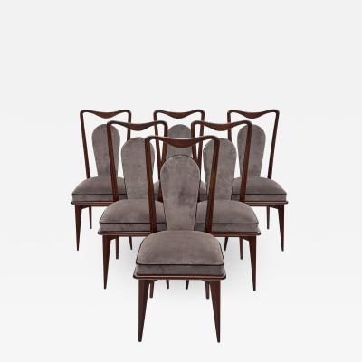 Mid Century French Mahogany Dining Chairs