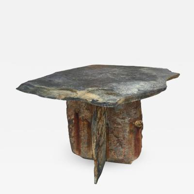 Mid Century French Sculptural Slate Table