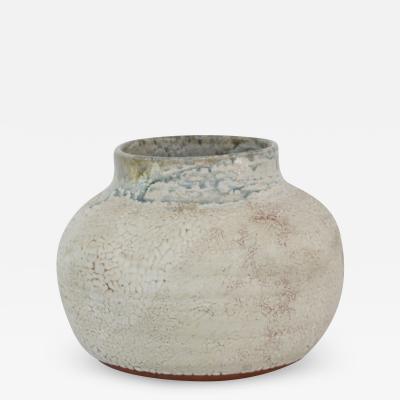 Mid Century Glazed Terracotta Vase