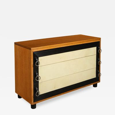 Mid Century Goat Skin Chest of Drawers