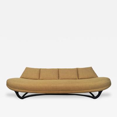 Mid Century Gondola Style Sofa