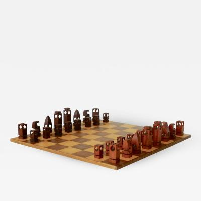 Mid Century Hand Lathed Danish Chess Set