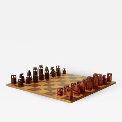 Mid Century Hand Lathed Danish Chess Set