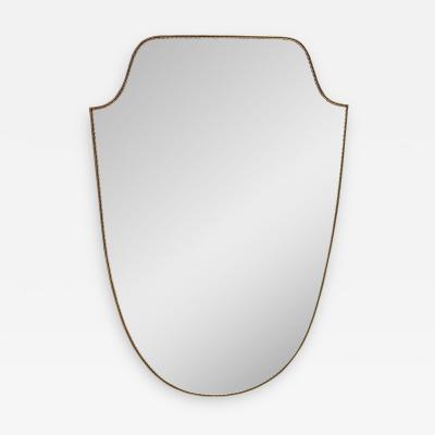 Mid Century Italian Curvilinear Wall Mirror 1970s