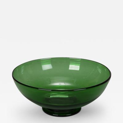 Mid Century Italian Green Glass Bowl