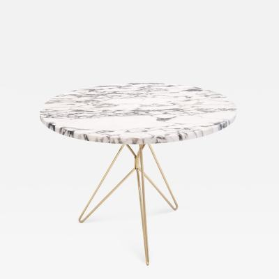 Mid Century Italian Marble Side Table