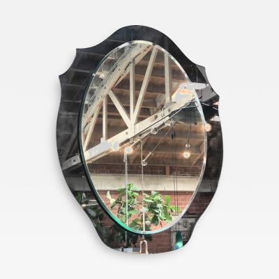 Mid Century Italian Mirror with Crystal 1969