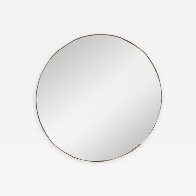 Mid Century Italian Round Wall Mirror Italy 1960