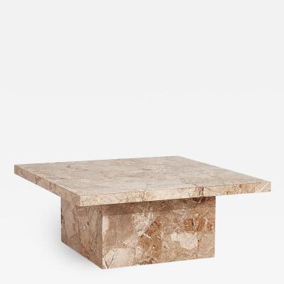 Mid Century Italian Travertine Coffee Table 1960