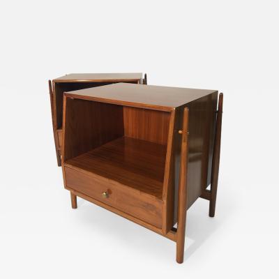Mid Century Kipp Stewart for Drexel Furniture Declaration Nightstands