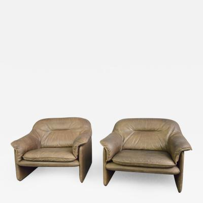 Mid Century Leather Chairs By De Sede Circa 1960s