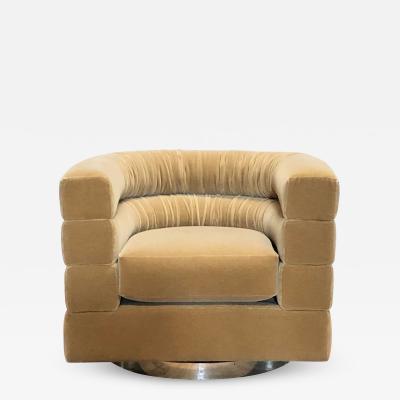 Mid Century Lounge Swivel Chair by Milo Baughman