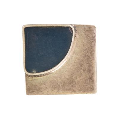 Mid Century Mexican Modernist Silver lapiz Azul Pendant