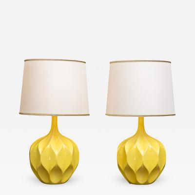 Mid Century Mod Yellow Lamps